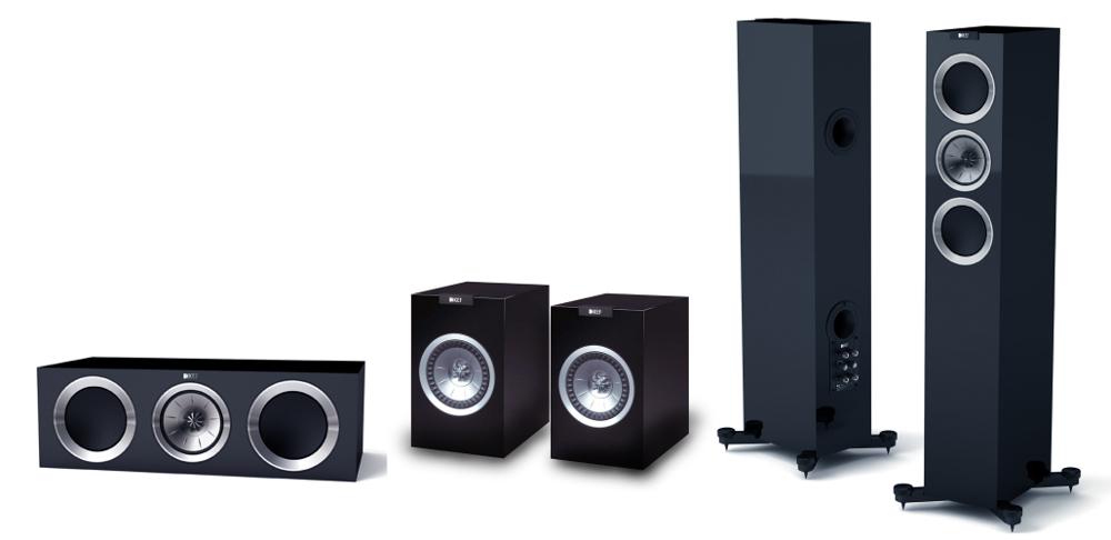 KEF R500 5.0 HCS System (zestaw) kolumn do kina domowego KEF R500 (R-500) Kolumny stereo - 2szt + KEF R100 (R-100) Kolumny stereo (surround) - 2szt +