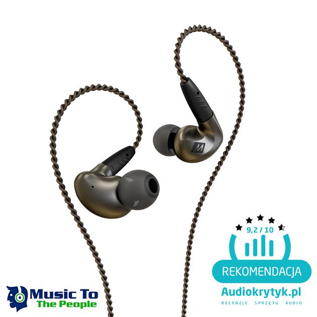 MEE Audio Pinnacle P1 + pianki Comply audiofilskie słuchawki dokanałowe klasy hi-end Polska Gwarancja