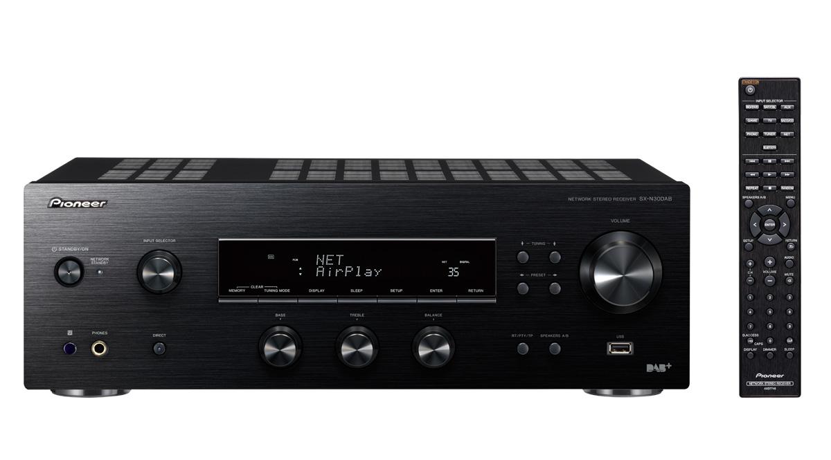 Pioneer SX-N30DAB (SXN30DAB) Amplituner stereo ze Spotify, DAB+, Bluetooth, Wi-Fi Kolor: Czarny Polska Gwarancja