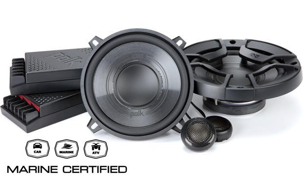 Polk Audio DB5252 (DB 5252) zestaw głośników średniotonowych 2x5.25 oraz wysokotonowych 2x0.75cala  car audio (samochodowych) ze zwrotnicami i certyfi