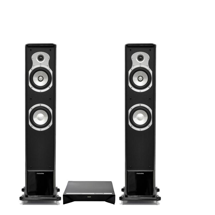 Zestaw stereo Definitive Technology W Amp (Wamp) Bezprzewodowy audiofilski wzmacniacz strumieniowy multiroom Play-Fi DTS Wi-FI  + Melodika BL30 kolumn