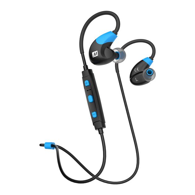 Mee Audio X7 (X-7) Słuchawki bezprzewodowe Bluetooth sportowe przenośne dokanałowe Kolor: Niebiesko-Czarne Polska Gwarancja