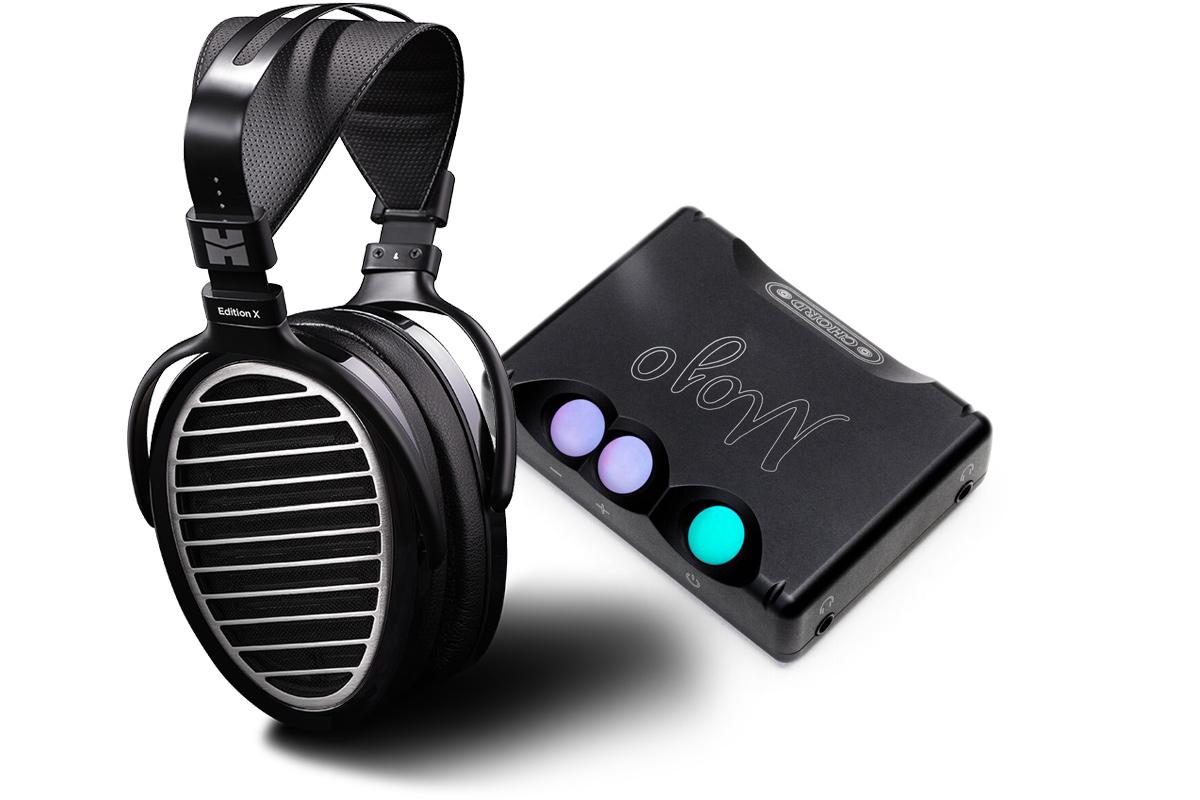 Zestaw promocyjny HiFiMAN Edition X (Edition-X) Referencyjne audiofilskie słuchawki planarne, ortodynamiczne + Chord Mojo przenośny wzmacniacz słuchaw