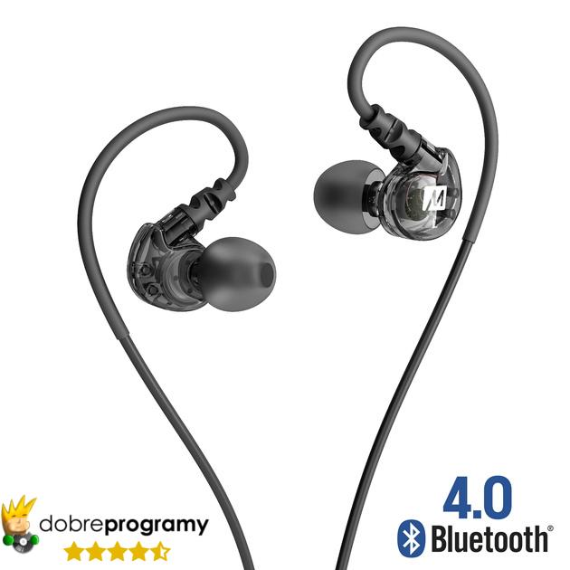 Mee Audio X6 Plus + (X 6 plus) słuchawki dokanałowe bezprzewodowe Bluetooth przenośne sportowe z mikrofonem i sterowaniem (regulacją głośności)