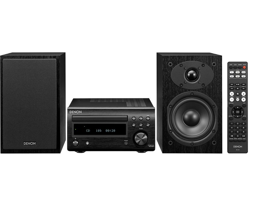 Denon D-M41 (DM41) Zestaw stereo (miniwieża) z odtwarzaczem CD, Bluetooth i tunerem FM Polska Gwarancja