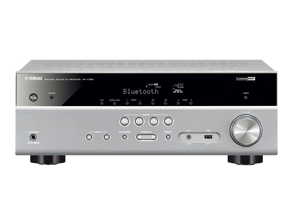 Yamaha RX-V385 (RXV385) AV Receiver 5 1 with Dolby Vision, Bluetooth