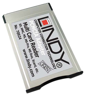Czytnik kart pamięci do laptopa PCMCIA (46-in-1) Lindy 70924 Polska Gwarancja