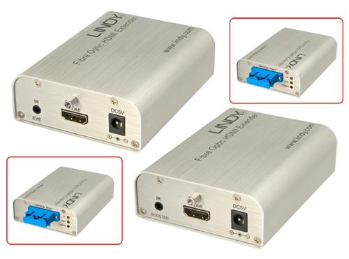 Lindy 38003 Przedłużacz HDMI (extender) adapter światłowodowy do 300m Polska Gwarancja