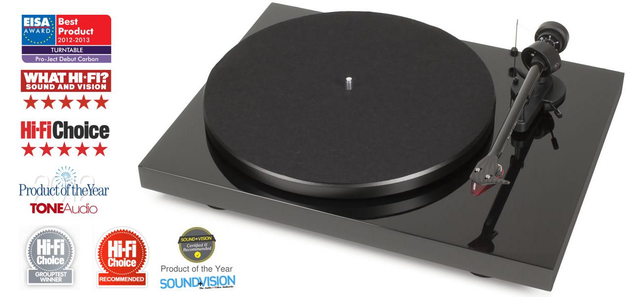 Pro-Ject Debut Carbon DC (DebutCarbon) Gramofon analogowy + wkładka Ortofon 2M Red  Kolor: Niebieski Polska Gwarancja