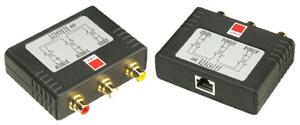 Przedłużacz, konwerter Audio/Composite - RJ-45 CAT5e/6 Lindy 32535 Polska Gwarancja