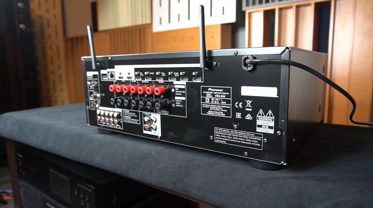Pioneer VSX-934 tylny panel