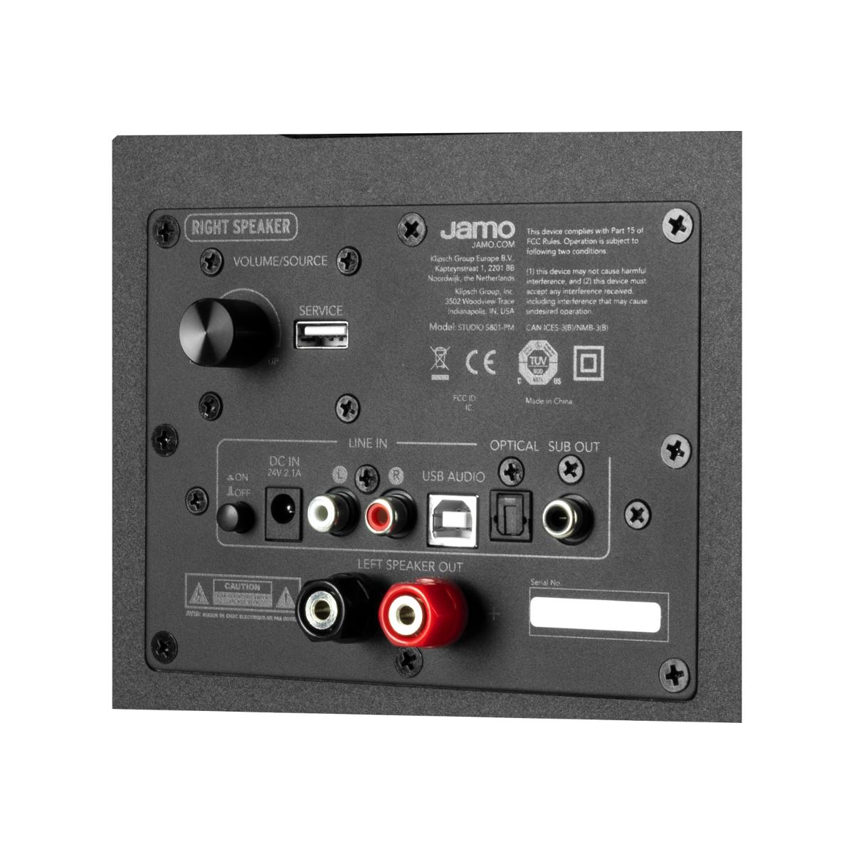 Jamo S 801 PM panel tylny ze złączami