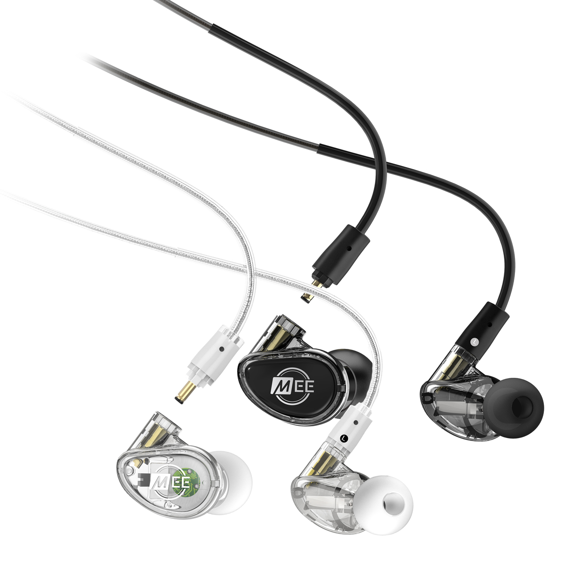 MEE Audio MX PRO czarne i przezroczyste