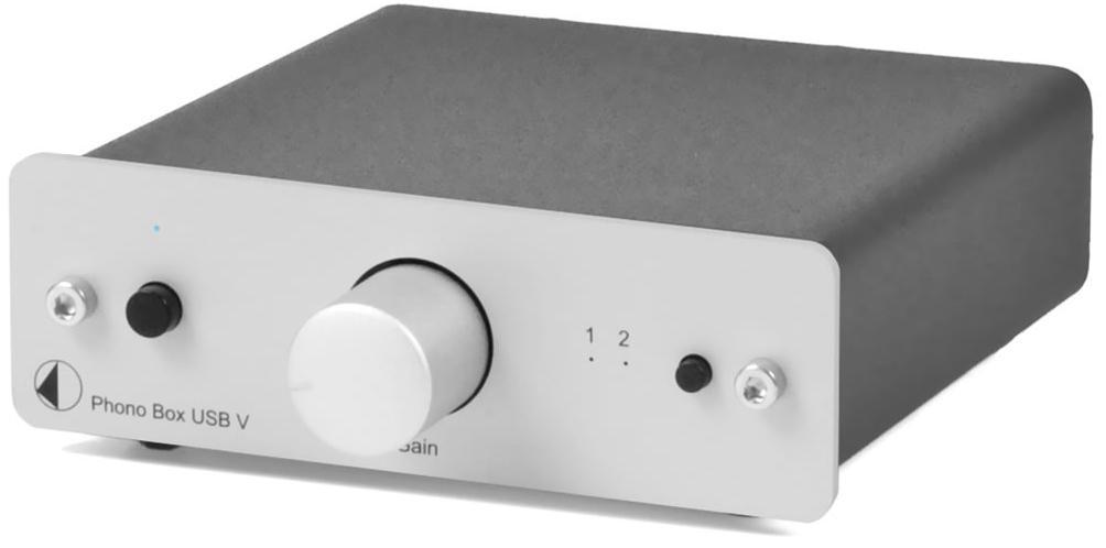 Pro-Ject Phono BOX USB V (PhonoBOXUSB) Przedwzmacniacz gramofonowy MM / MC Kolor: Ciemny Polska Gwarancja