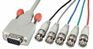 Kabel do monitora VGA (D-Sub) - 5xBNC (RGB HV, RGBHV) Lindy 31562 - 1,8m Polska Gwarancja