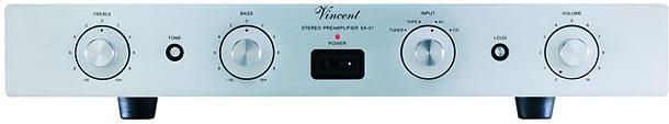 Vincent SA-31 (SA31) Przedwzmacniacz stereo hybrydowy Kolor: Ciemny Polska Gwarancja