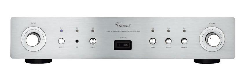 Vincent SA-31mk (SA31mk) Przedwzmacniacz stereo hybrydowy Kolor: Ciemny Polska Gwarancja