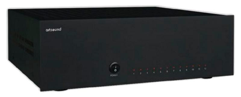 ArtSound AMP1250 B (AMP 1250 B) Wzmacniacz wielokanałowy Kolor: Ciemny Polska Gwarancja