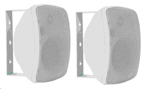 ArtSound ASW65.2 (ASW 65.2) Głośniki zewnętrzne odporne na promienie UV, wodoodporne (czarny, biały) - 2szt. Kolor: Biały Polska Gwarancja