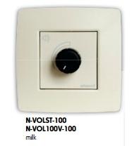 ArtSound N-VOL 100V (NVOL 100V) Regulator głośności ścienny do zabudowy Kolor: Mleczny Polska Gwarancja