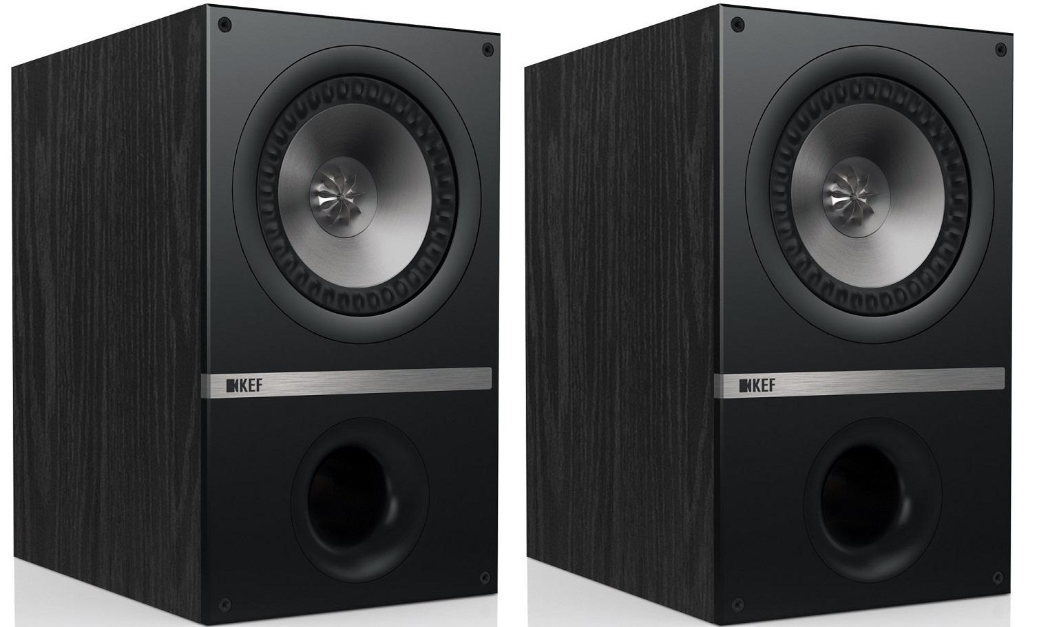 KEF Q 300 (Q300) Kolumny stereo (surround) - 2szt Kolor: Czarny dąb Polska Gwarancja