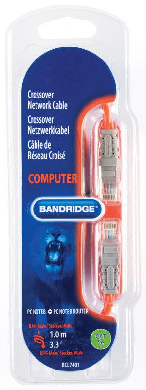 Bandridge BCL7401 (BCL 7401) Kabel (skrętka) komputerowa krosowany Cat.5 patchcord - 1m Polska Gwarancja
