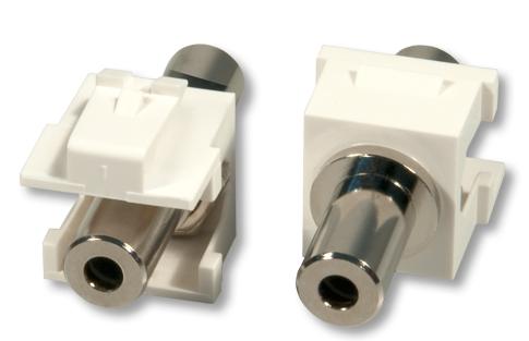 Gniazdo naścienne mini jack (3,5mm) Keystone (łącznik modułowy) Lindy 60528 - 2szt Polska Gwarancja