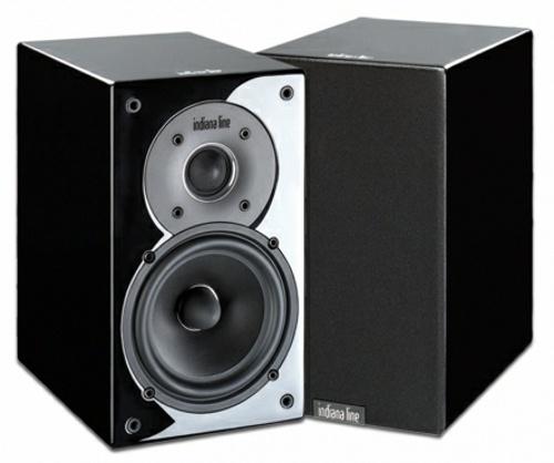 Indiana Line Tesi 242 (Tesi242) Kolumny stereo (surround) - 2szt. Kolor: Czarny błyszczący Polska Gwarancja