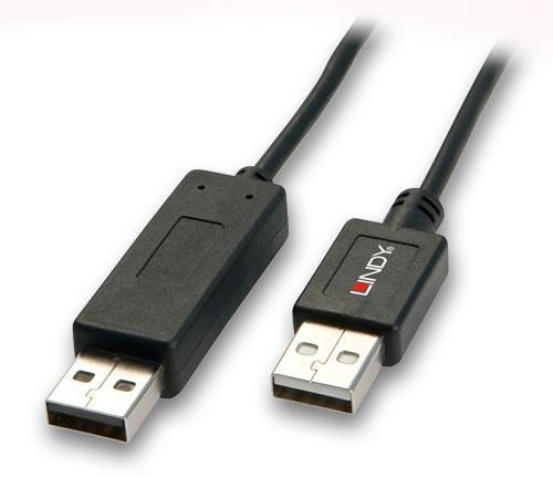 Kabel KVM Smart Data Link USB A-A 2.0 Lindy 42617 - 1m Polska Gwarancja