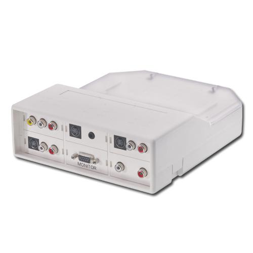 Stołowe złącze multimedialne (ramka, puszka) 6 modułów firmy Lindy 60549 Polska Gwarancja