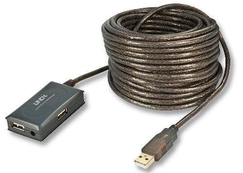 Lindy 42630 przedłużacz (rozdzielacz) 4-portowy USB 2.0 typu A - 10m Polska Gwarancja