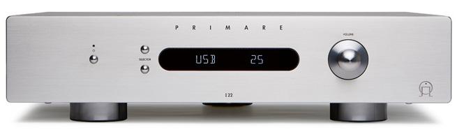 Primare I22 DAC (I 22 DAC) Wzmacniacz zintegrowany stereo 80W z przetwornikiem cyfrowo-analogowym DAC (wejście USB, toslink, coaxial) Kolor: Srebrny