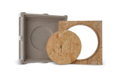 KEF Skrzynka montażowa do ściany z betonu czy kamienia do głośnika Ci200QR Polska Gwarancja