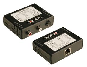 Lindy 32523 Przedłużacz, konwerter Audio/S-Video (SVHS) - RJ-45 CAT5e/6  Polska Gwarancja