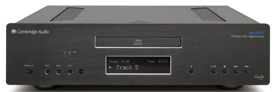 Cambridge Audio Azur 851C (851 C) Odtwarzacz CD z serii Azur z obsługą PC-Audio USB nagroda od EISA 2012/2013 Kolor: Ciemny Polska Gwarancja