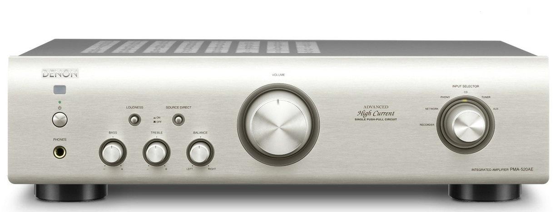 Denon PMA-520AE (PMA520AE) Wzmacniacz zintegrowany stereo 70W Kolor: Srebrny Polska Gwarancja
