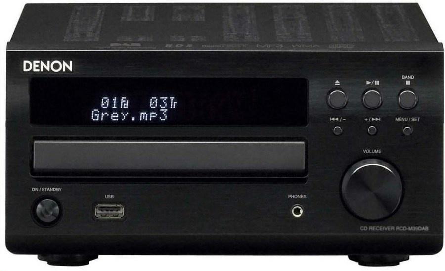 Denon RCD-M39 (RCDM39) Amplituner stereo z wbudowanym odtwarzaczem CD (2x30W)  Kolor: Ciemny Polska Gwarancja