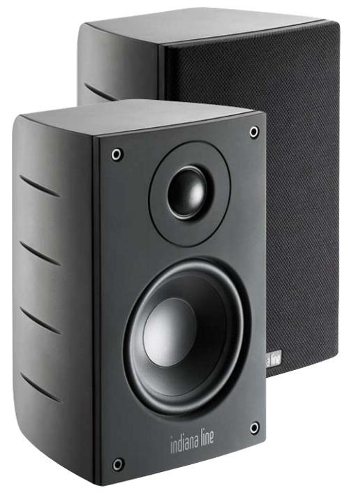 Indiana Line Ego Sat (EgoSat) Kolumny stereo (surround) wykonany z Metalu - 2szt. Kolor: Czarny Polska Gwarancja