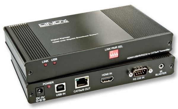 Lindy 38066 Przedłużacz HDMI (extender) Nadajnik z obsługą IR przez sieć Ethernet Gigabit - do 100 m Polska Gwarancja