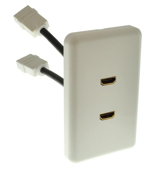 Melodika BWG2HD naścienne przyłącze gniazdo 2 x HDMI z obsługą 3D standard Decora Polska Gwarancja